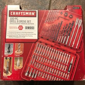 New 100 pc drill & drive set tools craftsman